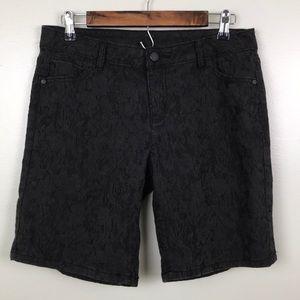 SIMPLY VERA Vera Wang Textured Black Shorts